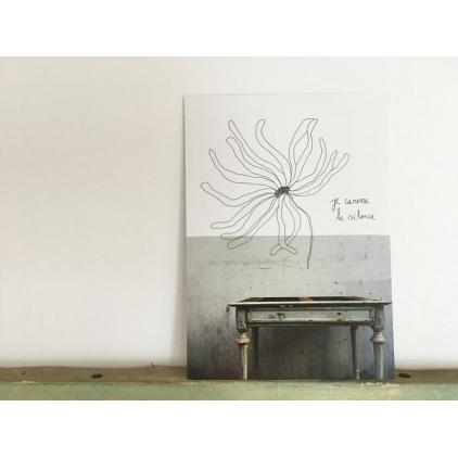 Papillonnage - carte postale - je caresse le silence
