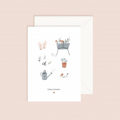 Carte avec enveloppe - Cultivez le bonheur
