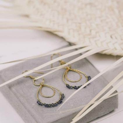 Boucles d'oreilles Camila bleu - 10480 Amulette