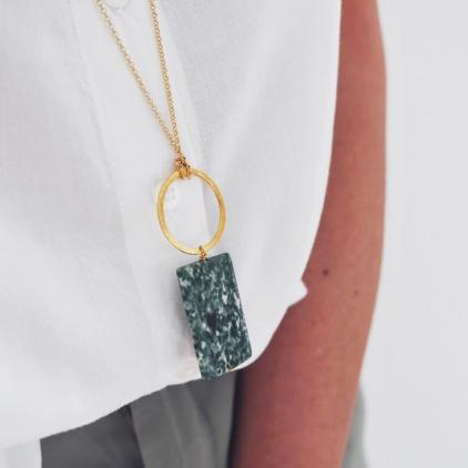 Sautoir Eiko 10656 - capsule Wabi Sabi - amulette