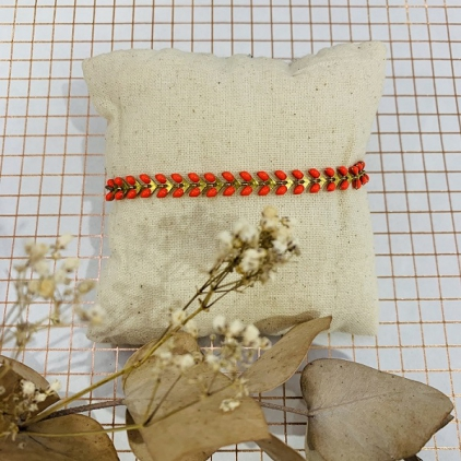 bracelet Paloma corail fluo - 0403