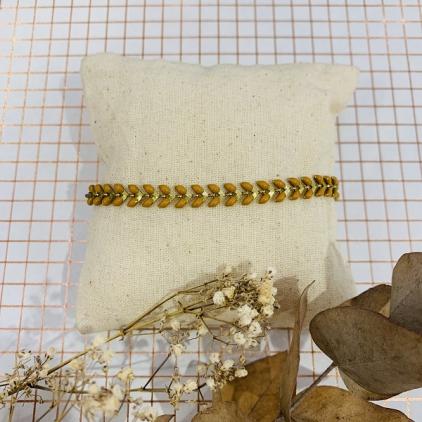 bracelet Paloma moutarde - 0403