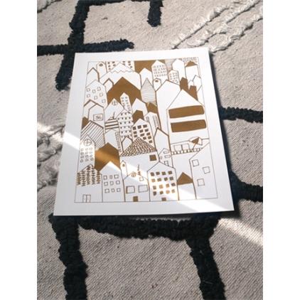 """Affiche A4 - """"City gold"""""""