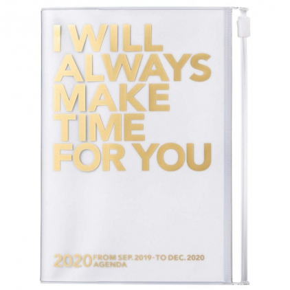 Agenda Make time A6 Gold/white 2020-2021