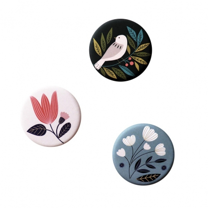 Magnet - Bird Black - lot de 3