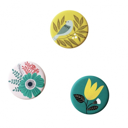 Magnet - Bird Yellow - lot de 3
