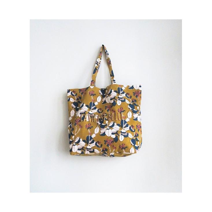 Tote Bag - La vie est belle - Iris - Mustard