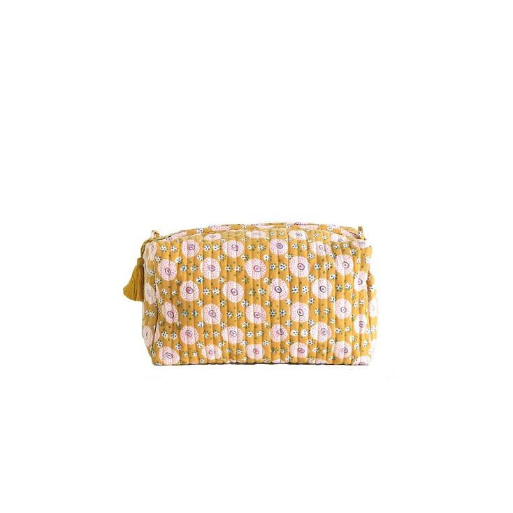 Big Travel Pouch - Shivu - Mustard/Pink