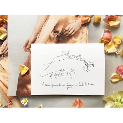 Papillonnage - carte postale - au bord de l'eau