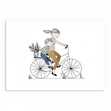Affiche A5 - Balade à Vélo Garçon