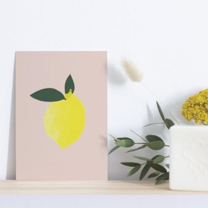 Affiche A5 - Citron