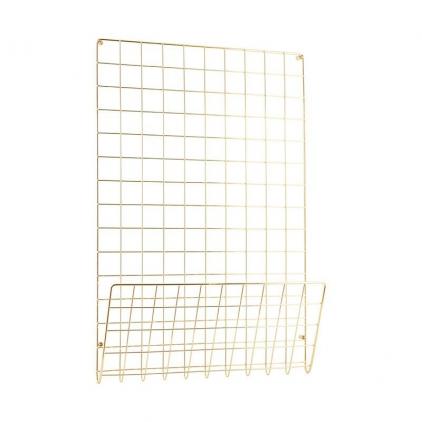 Noticeboard mesh gold