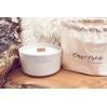 Bougie parfumée - Blanc - Fraise Rhubarbe