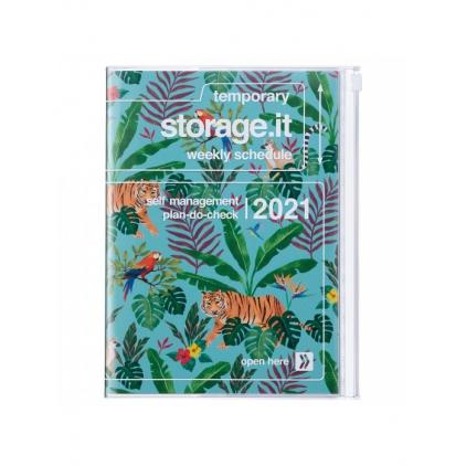 Agenda Jungle A5 Turquoise 2020-2021