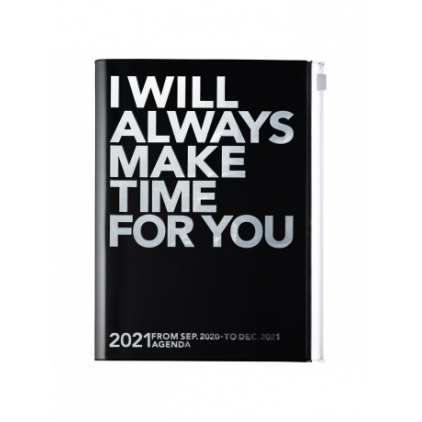 Agenda Make Time A5 Silver/black 2020-2021