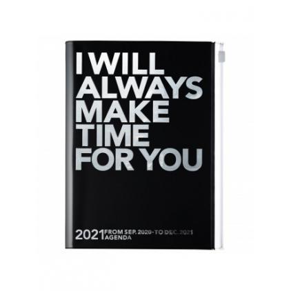 Agenda Make Time A5 Silver/black