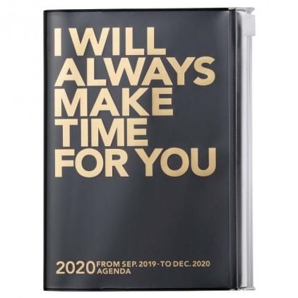 Agenda Make time A6 Black/gold 2020-2021