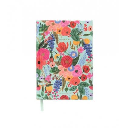 Journal- Garden Party - couverture en tissu- Rifle Paper