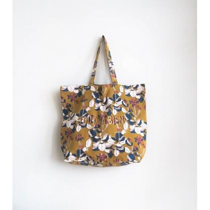 Tote Bag - Tout va bien - Iris - Mustard