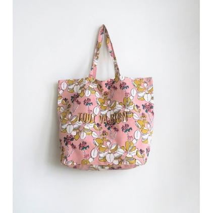Tote Bag - Tout va bien - Iris - Pink