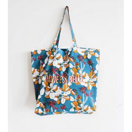 Tote Bag - La vie est belle - Iris - Jean