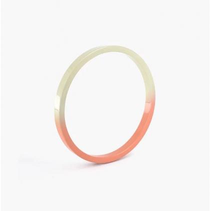 Bracelet Gradient - rond - pêche & ivoire - MEDIUM