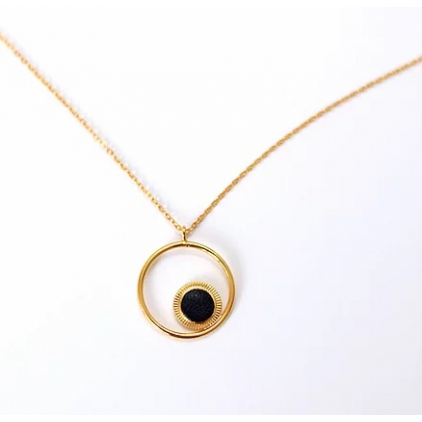 Collier Maou Ring - Noir