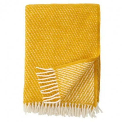 Plaid - Velvet saffron - woven wool throw