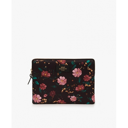 Pochette iPad - Black Flowers
