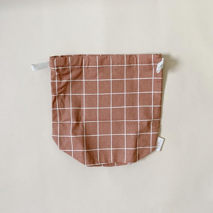Multi bag small terracotta check