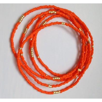 bracelet élastique 1 rang orange