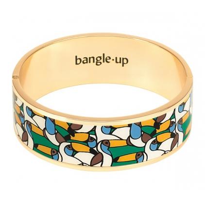Bracelet Jangala 2cm - Vert emeraude/blanc sable Taille 1