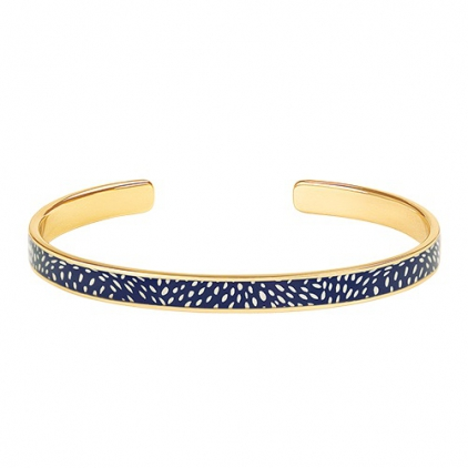 Bracelet Cosmos - Jonc laiton doré - night blue