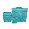 Panier medium basket print confetti bleu pétrol/or