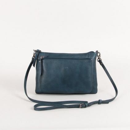 Manon - sac cuir vachette bleu Paon