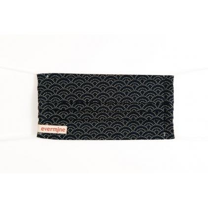 Masque XS Evermine -Dotted wedges noir - P023-B