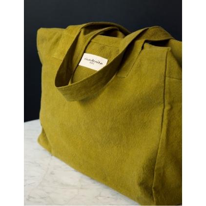 Célestin- The 24h bag en coton recyclé- Frosty Olive Green