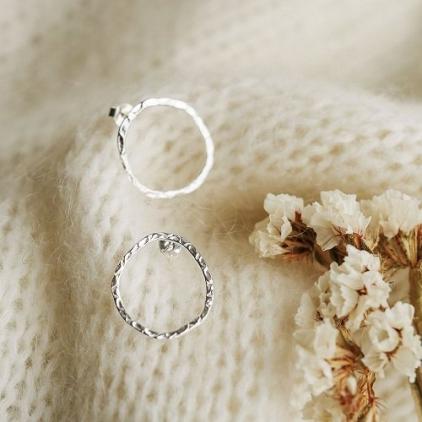 Boucles d'oreille Hortence - argent - 10737 - Amulette