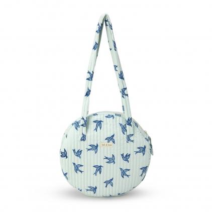 Grand sac rond porté épaule - Blue Bird