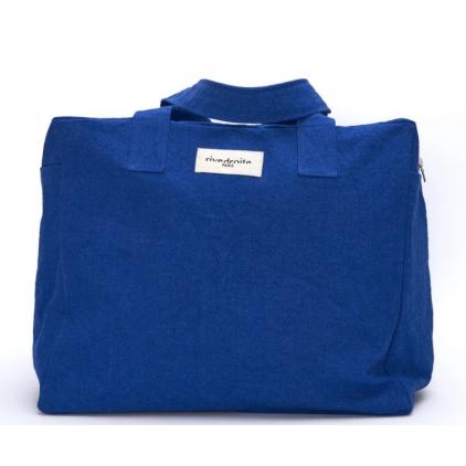 Célestins - The 24h bag en coton recyclé - Bleu Azurit