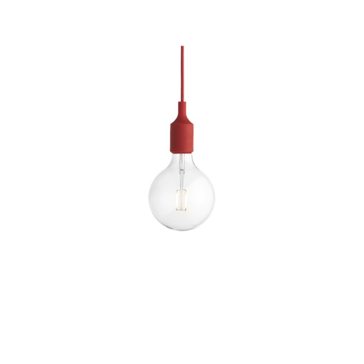 E27 socket lamp LED - rouge