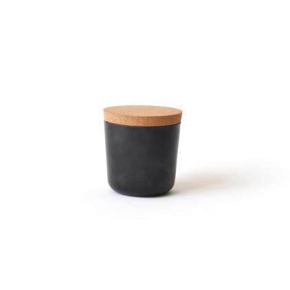 Gusto Small Storage Jar with cork lid black
