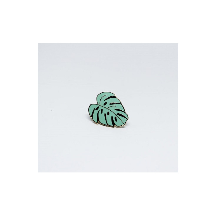 Pin's Monstera vert