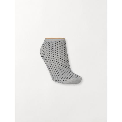 Chaussettes Dollie Dot - Grey melange - yellow 37-39