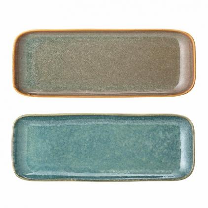 Set de 2 Assiettes longues - Aime - Multi-color en grès