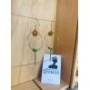 Boucles d'oreilles laiton doré ROMA 04 vert prairie