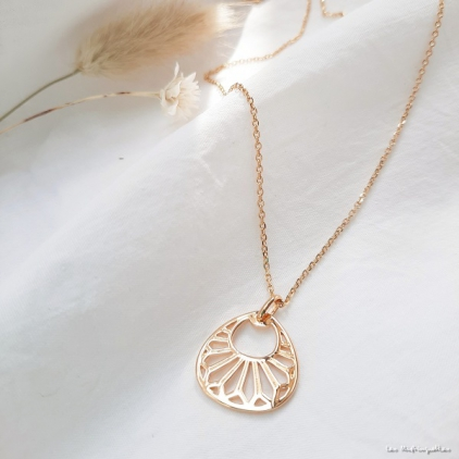 Collier Flore-plaqué or