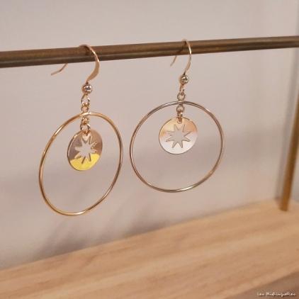 Boucles d'oreilles Estelle- plaqué or