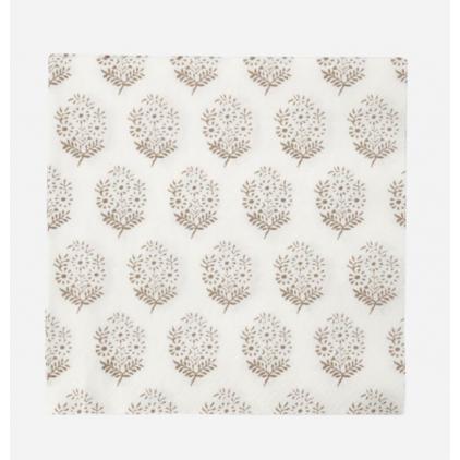 Napkins - Bouquet - light brown - 20x20cm