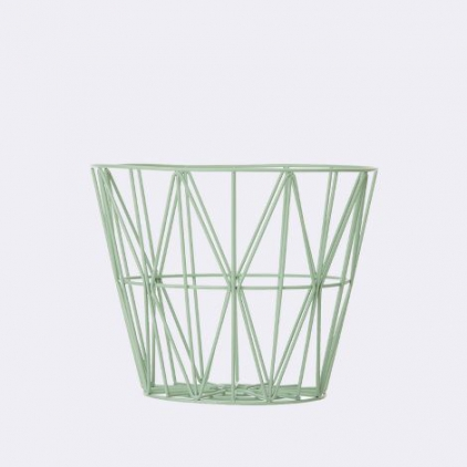 wire basket small 40 x 35 cm - mint